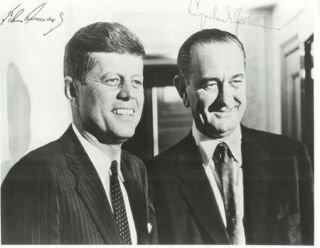 Signed Photograph of John F. Kennedy and Lyndon B. Johnson. John F. Kennedy, Lyndon B. Johnson.